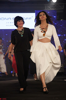 Meenakshi Dixit Walks the Ramp At Designer Nidhi Munim Summer Collection Fashion Week (9).JPG