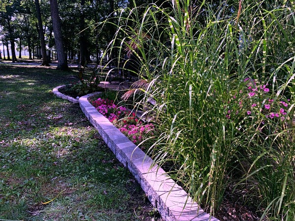 Adding a new border and new garden beds at the Lake County Fairgrounds in Indiana
