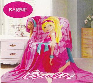 Selimut Kintakun Flannel Barbie