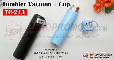 Thermos TC 213, Thermos Cup Vacuum Flask, Tumbler Stainless Vacuumflask + Cup TC-213, Thermos Vacuum + Cup THC. Souvenir Tumbler Vacuum Flask Stainless + Cup TC-213