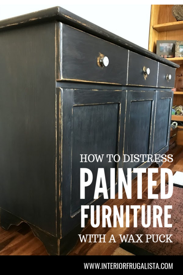 How To Distress Painted Furniture With A Wax Puck