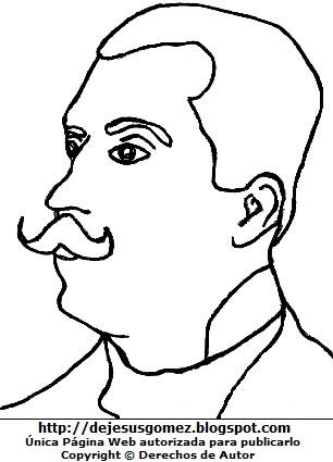 Imagen de José Santos Chocano para colorear pintar imprimir. Dibujo de José Santos Chocano hecho por Jesus Gómez