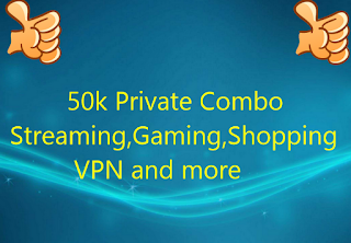 50k Private Combo l Streaming,Gaming,Shopping,VPN and more