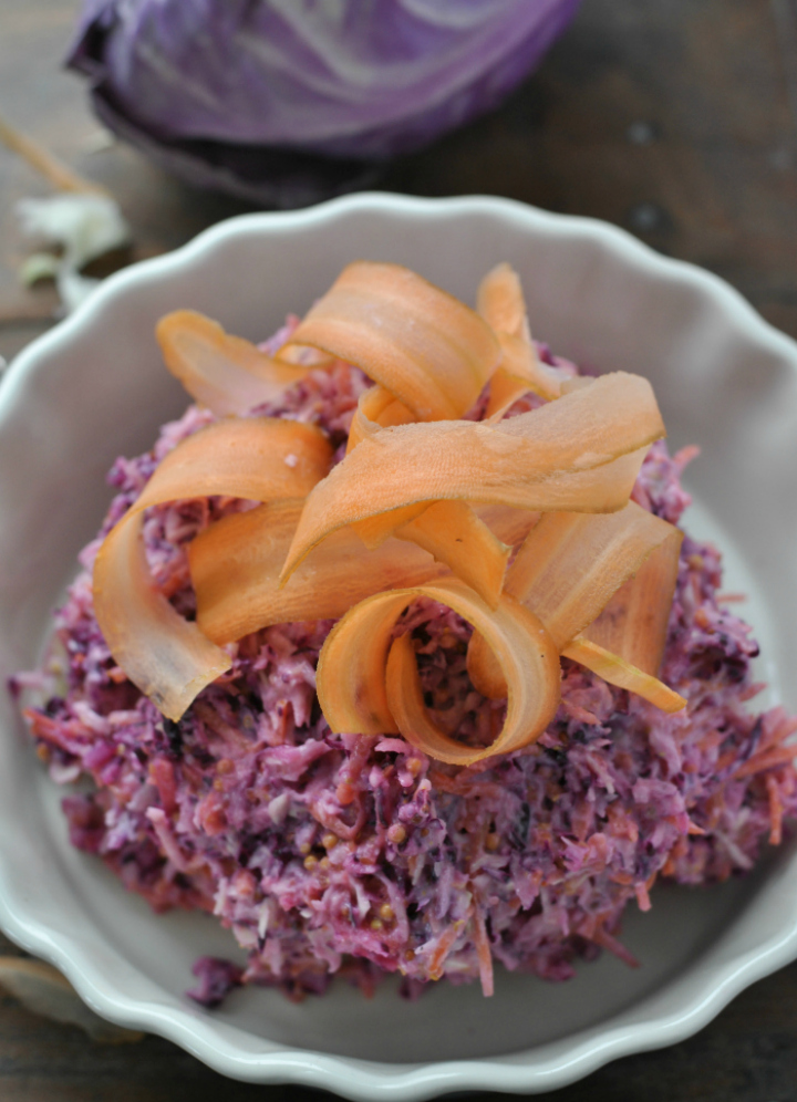 Wintry Coleslaw with yoghurt and mustard - the perfect way to eat your veggies in winter