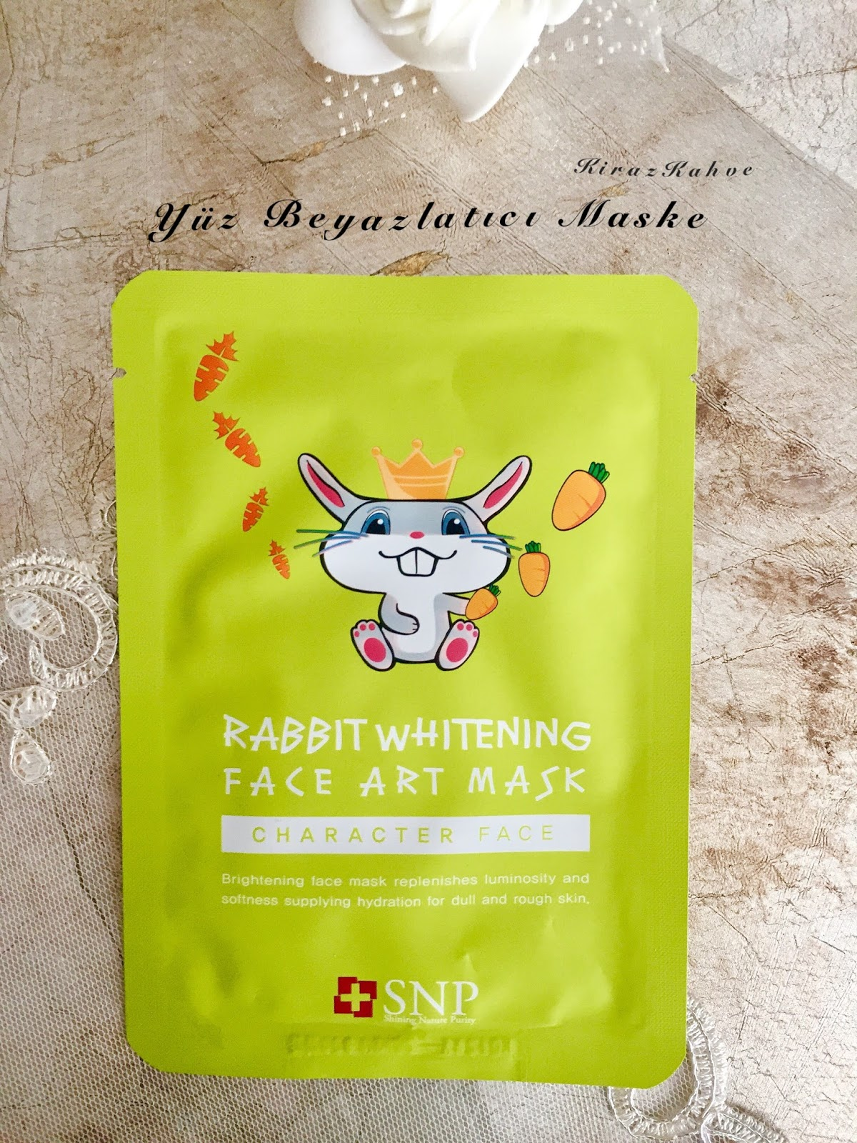 rabbit whitening face art mask