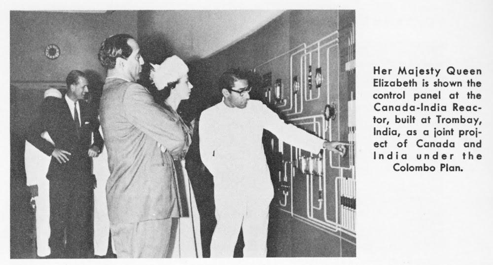 Queen Elizabeth II - CIRUS Reactor - India - 1961
