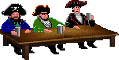 The Secret of Monkey Island Piratas jefes
