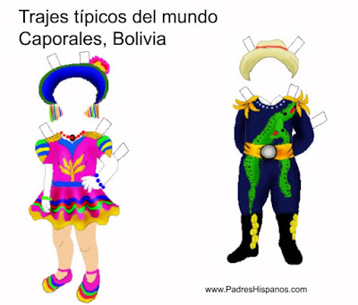 traje típico de caporales, Bolivia