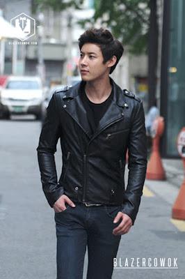 blazer cowok blazercowok.com jaket korean jas pria sk44 black a