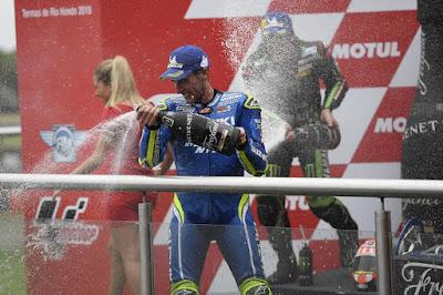 Alex Rins Podium MotoGP Argentina