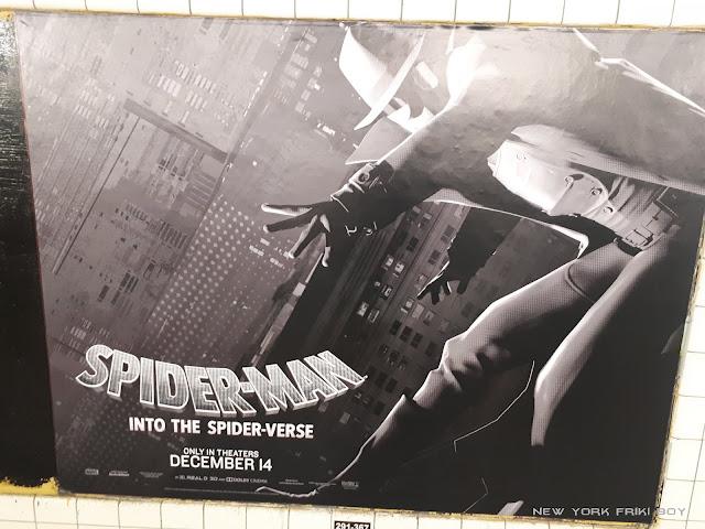 Spider-Man Into the Spider-Verse Spider Man Noir subway