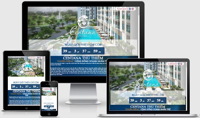 Templates blogspot lading page bất động sản