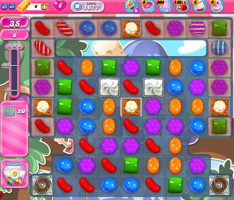 Candy Crush Saga 1677