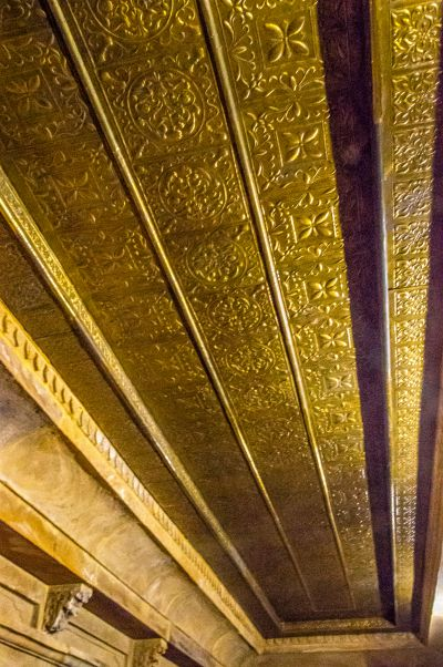 Gold plated ceiling