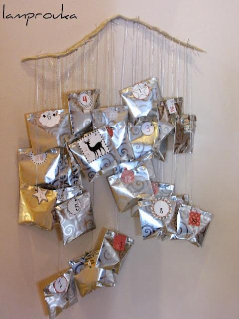 Εύκολη και γρήγορη ιδέα για χριστουγεννιάτικο ημερολόγιο αντίστροφης μέτρησης.