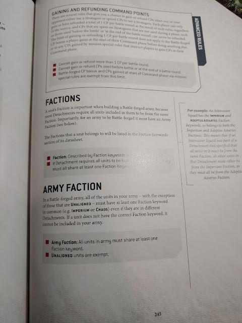 Puntos de Mando 9a edición 40k