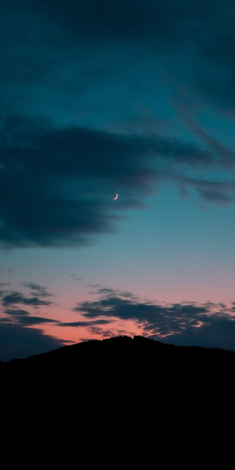 Crescent moon of the night
