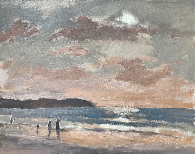 #298 'High Tide, Woolacombe Beach' 8×10″