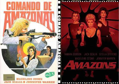 Carátula dvd: Comando amazonas (1984) Amazons
