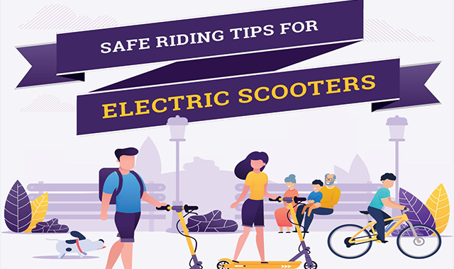 Safe Riding Tips For Electric Scooters #infographic