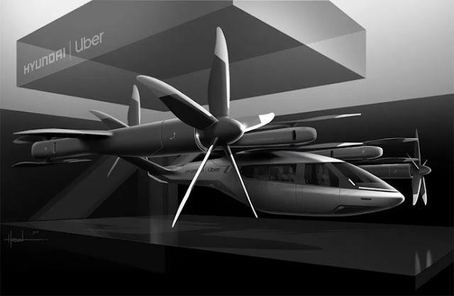Hyundai dan Uber Kerja Sama Bangun Taksi Udara