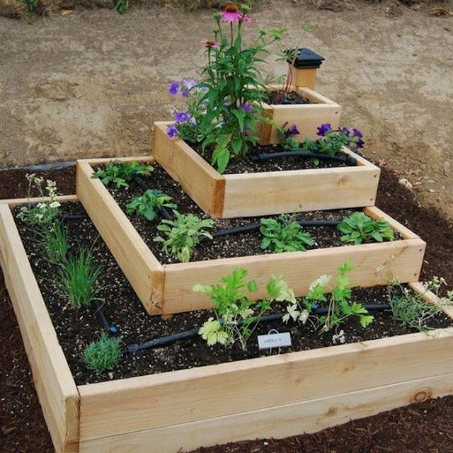 Simple tiered square for Raised Garden Bed Ideas
