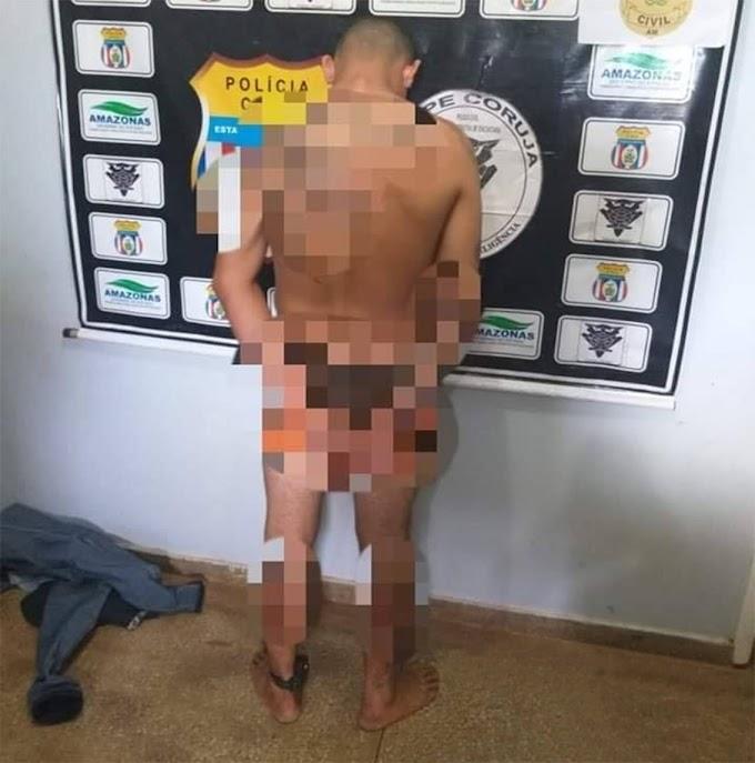 Homem com tornozeleira eletrônica solto recentemente é preso por estuprar jovem em Itacoatiara-AM