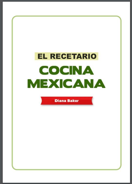 Recetario De Cocina.Recetario De Cocina Mexicana Pdf Gratis Libros Y Recursos