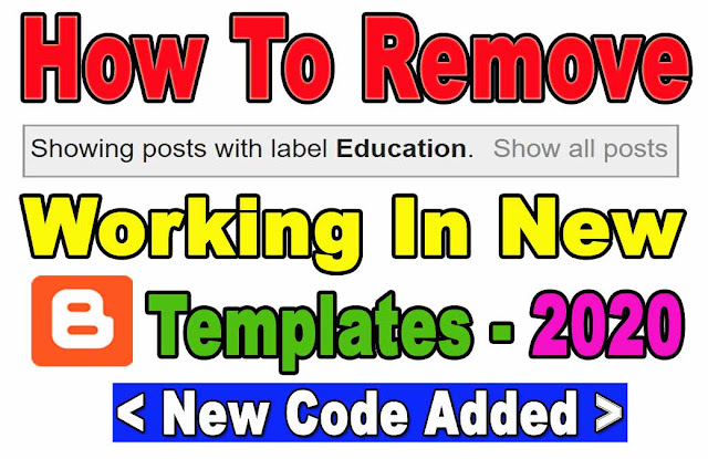 how to hide showing posts with label in new templates 2020