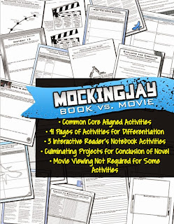 Mockingjay Novel vs. Movie Activities https://www.teacherspayteachers.com/Product/Mockingjay-Book-vs-Movie-Activities-Common-Core-1548667