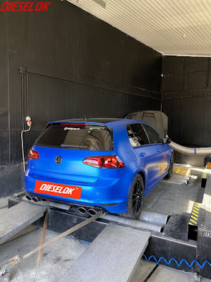 VW Golf VII R. Stage 3+ chiptuning by VTG, dyno by Dieselok