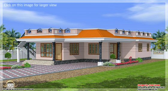 Kerala style single storey home