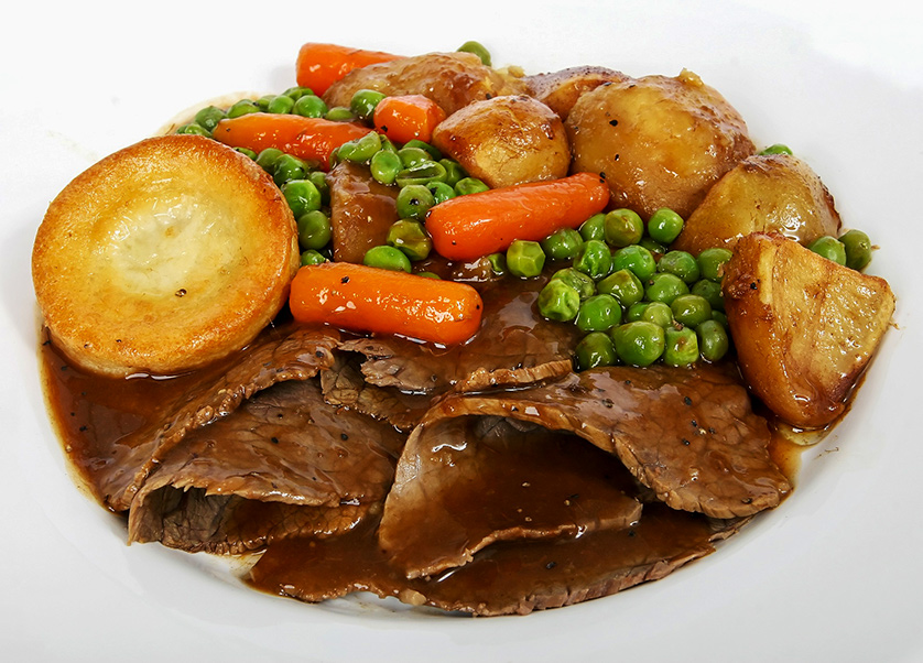 Meat and three veg - the typical, traditional New Zealand meal.
