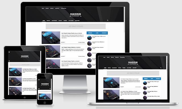 Download Template Masign Andromeda Redesign Responsive Blogger