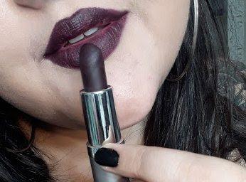 Batom Matte Soul Kiss Dark Cabernet Eudora resenha e comparação
