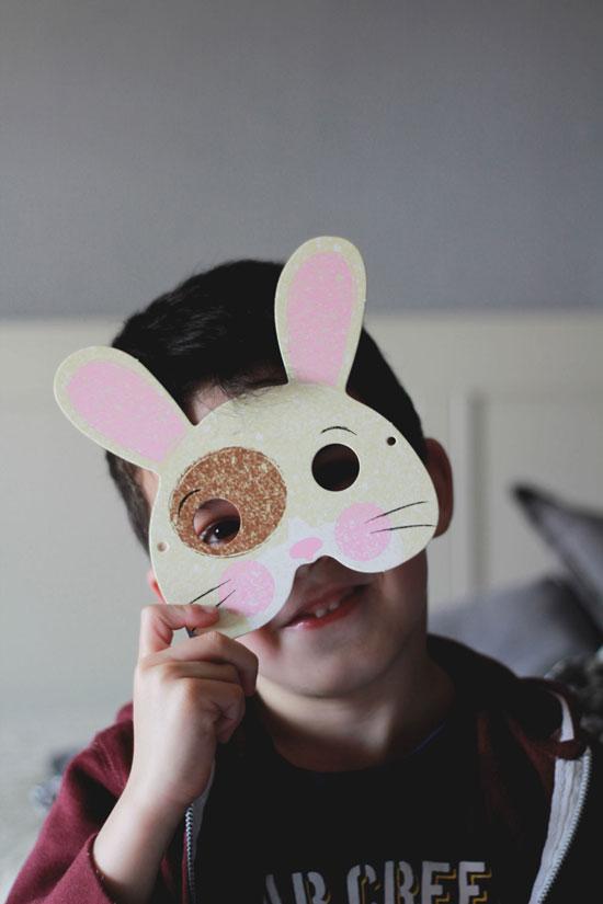 Máscara de conejo - niños kidsandchic