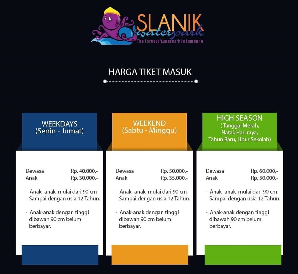 Harga Tiket Masuk Slanik Waterpark