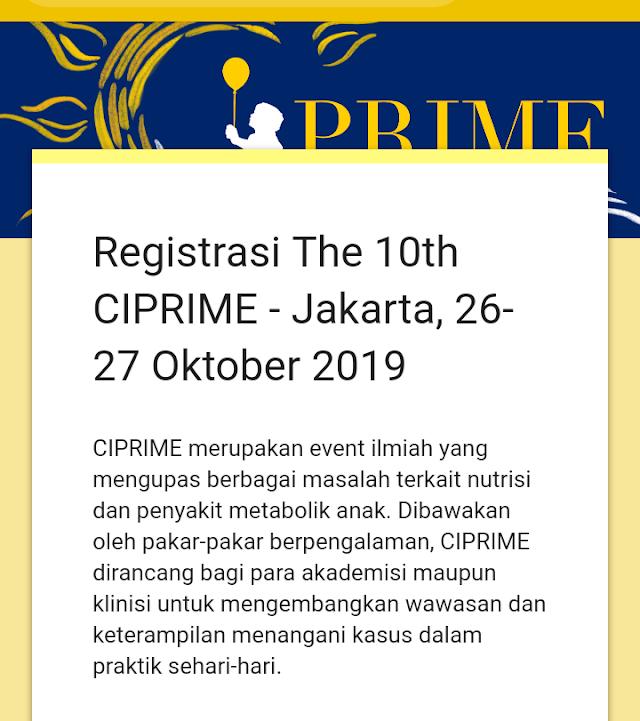 The 10th CIPRIME 26-27 Oktober 2019 Jakarta