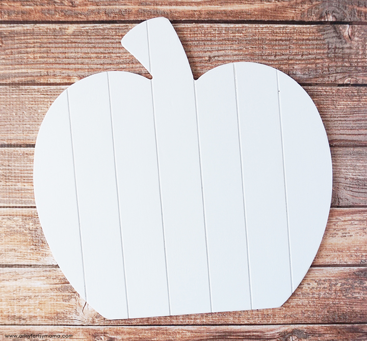 Wood Pumpkin Sign Painted White