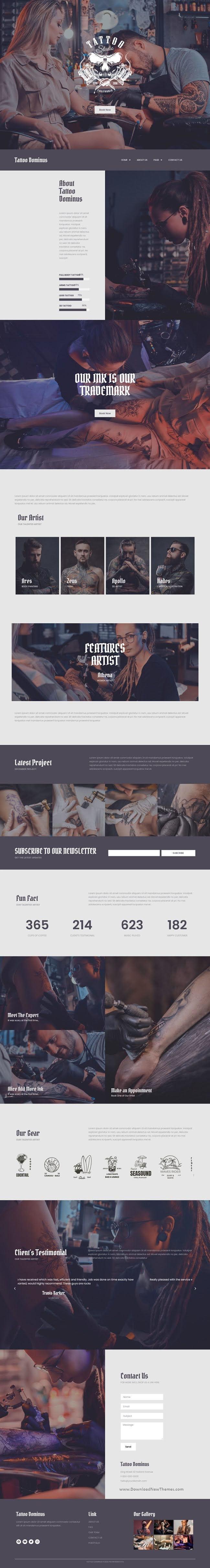 Tattoo Studio Elementor Template Kits