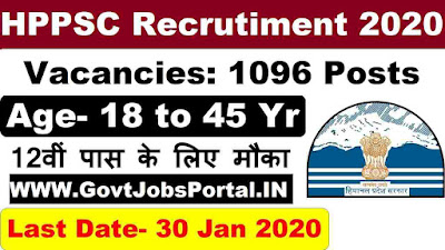 HPPSC Recruitment 2020