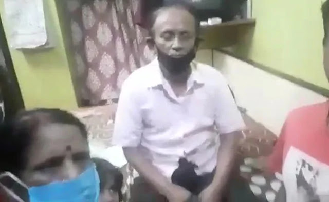 Om Prakash's son used his cellphone to film his father leaving their house for hospital