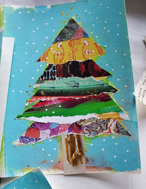 scrap paper christmas cards