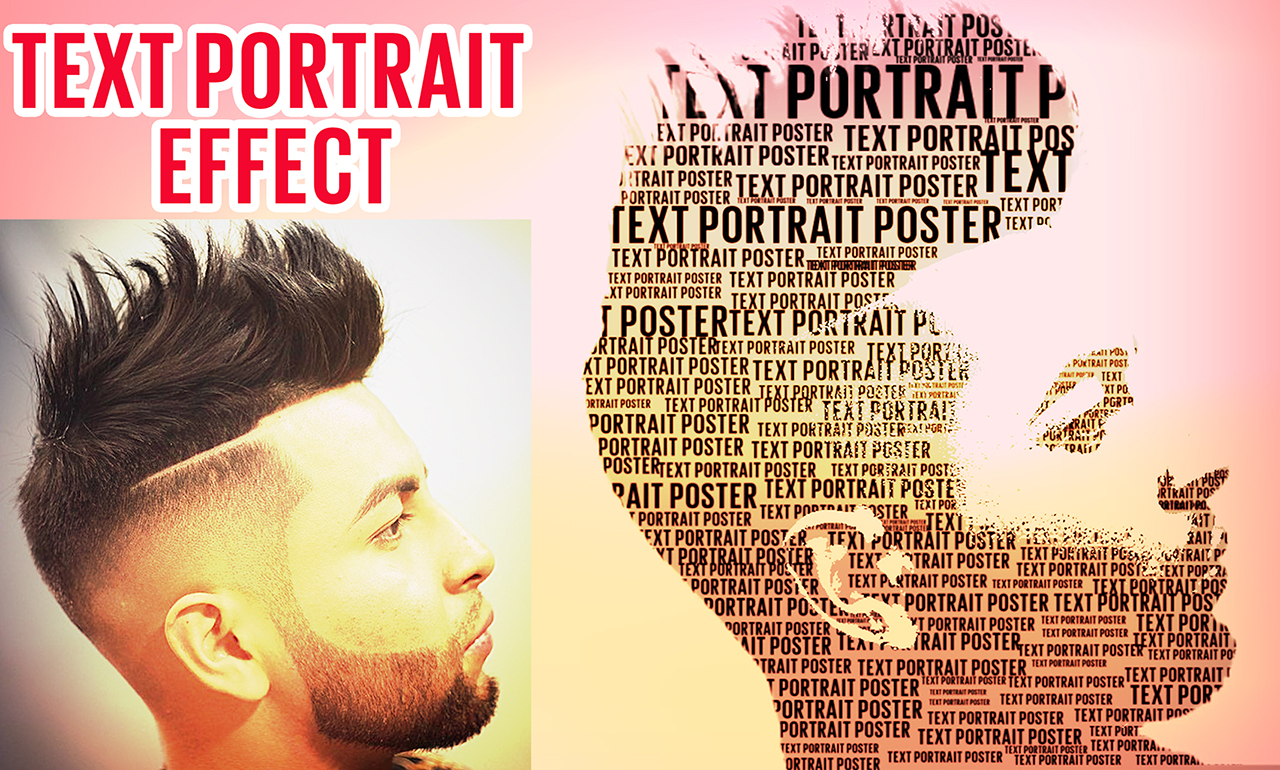 photoshop tutorial | text portrait effect in photoshop cs6 ...