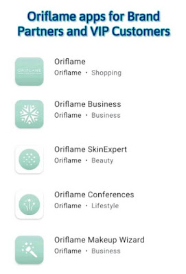 Oriflame apps for brand partners and vip customer