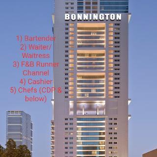 Multiple Jobs Vacancy in Bonnington Jumeirah Lakes Towers Location UAE