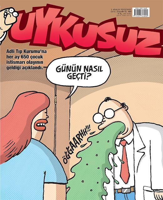 Uykusuz Dergisi | 1 Aralık 2016 Kapak Karikatürü