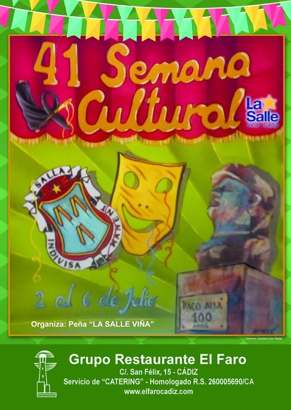 Cartel y la programación de la Semana Cultural y Carnavalesca de La Salle-Viña
