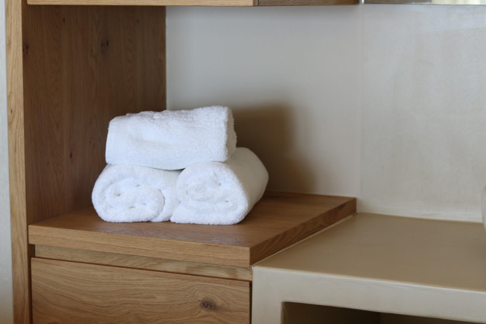 folded towels, F Zeen Resort, Unique Villas, Kefalonia