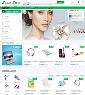 Giao diện Web bán hàng Super Store - Theme Blogspot - Blogspotdep.com